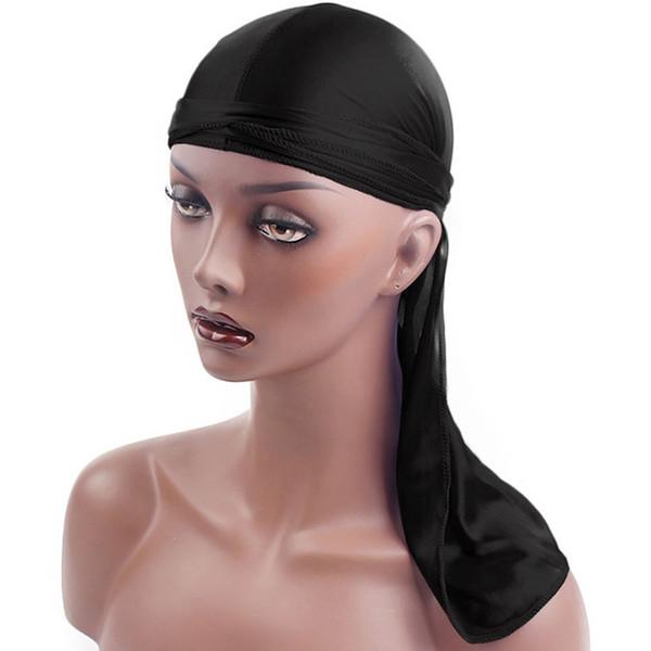2 Styles Unisex Town Hip-Hop Bandanna Turban Hat Fashion Turban Pirate Hat Lacing Bandanas Wigs Spandex Durag Biker Headwear