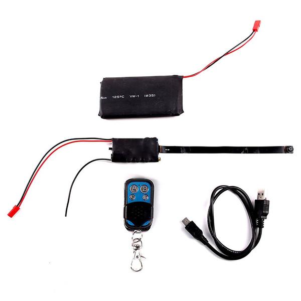 8GB memory built-in HD 1080P DIY Module Camera Video MINI DV DVR Motion w/ Remote Control, Full range of black button lens cover Cam PQ189