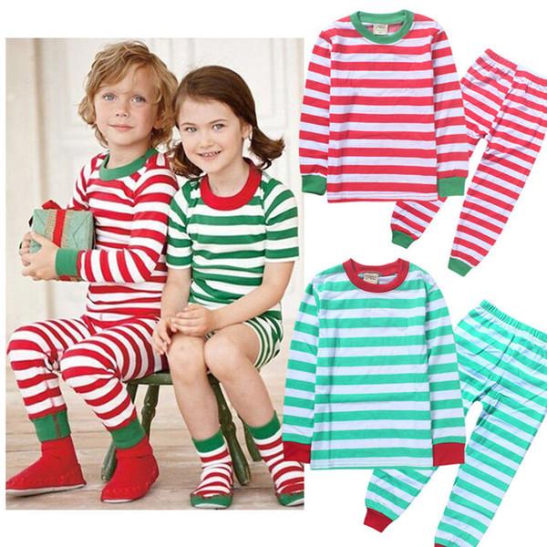 Natale Halloween New Kids Pigiama Ragazzi Ragazza manica lunga pigiama imposta T-shirt + pantaloni 2 pezzi Abbigliamento per il tempo libero per bambini