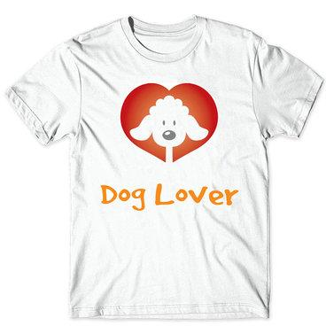 Dog lover t shirt Red heart short sleeve gown Love animal tees Fastness picture clothing Quality modal Tshirt