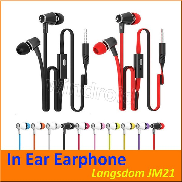 Langsdom JM21 In Ear Kopfhörer mit Micphone Bunte Kopfhörer Hifi Earbuds Bass Kopfhörer für Handy mit Kleinpaket Versand per DHL