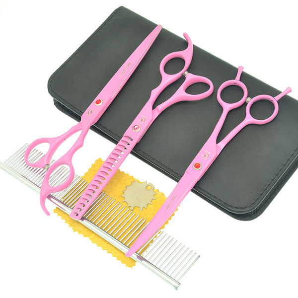 Meisha 7.0 Inch Pet Grooming Scissors Set Japan 440c Dogs Cutting Thinning Shears Styling Tool for Haircut Animals Hairdressing Tools HB0170
