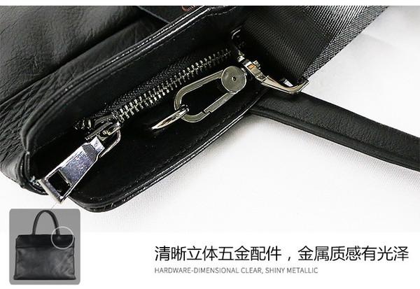 Men Business Leather Briefcase  Designer Waterproof Laptop Shoulder Bag
