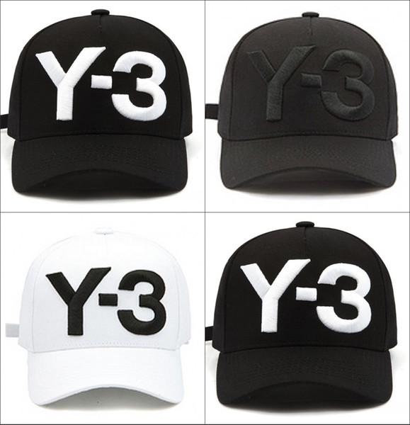 Y-3 Black Men Baseballmütze Frauen Curved Snapback Strapback Sport Golf Hip-Hop Caps Einstellbare Outdoor Wandern Camping Sonnenhüte casquette