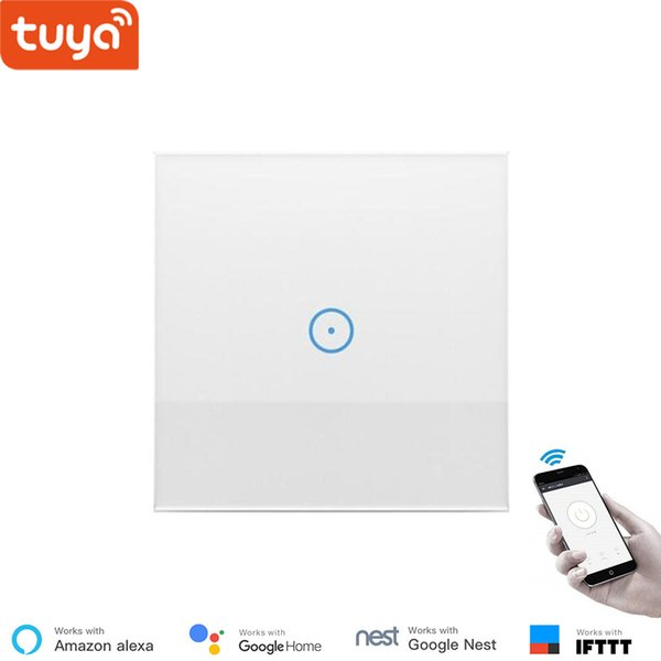Tuya WiFi smart wall switch for home automation system Wireless control touch switch EU 1gang 2gang 3gang module