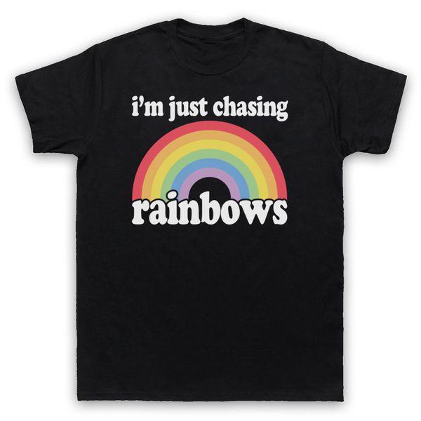 SHED SETE ARCO-ÍRIS NÃO OFICIAL RAINBOWS BRITPOP BRIT POP T-SHIRT ADULTOS KIDTops camisa de T Homme
