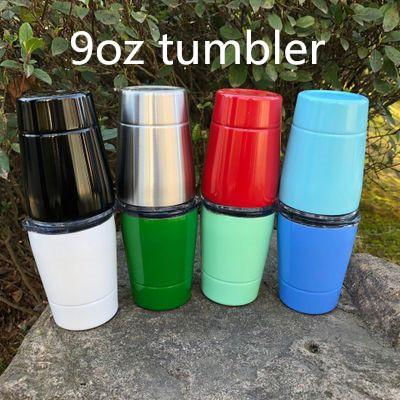 Kids Gifts 9oz tumbler kids tumbler Vacuum Insulated Double Wall Kids Tumbler Stainless Steel Lowball with lids straws
