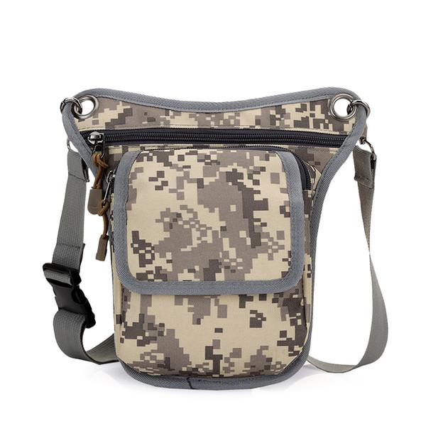 DIDA BEAR Brand 2017 Men Canvas drop waist bags Leg pack bag for work Men Messenger bags Multifunction Shoulder Bag Black Khaki