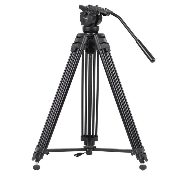 wholesale VT-2500 Professional Mg-Al Alloy Video Photo Tripod Kit Pan Fluid Ball Head for DSLR Camera Video Recorder DV