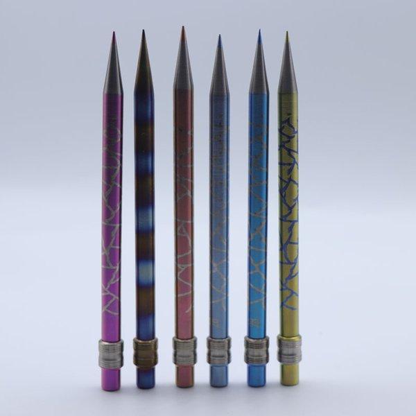 Envío de DHL !!! Nuevo Color Lápiz GR2 Herramienta Titanium Dabber para aceite y cera Dry Herb Domeless Titanium Nails Bongs de vidrio Dab Rigs
