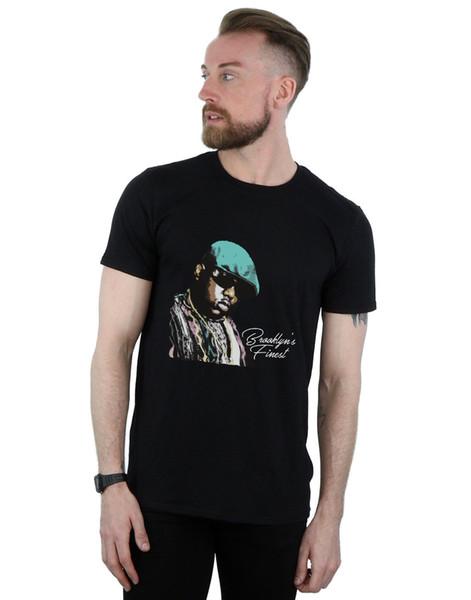 2018 Novos Homens Notórios dos Homens Grandes do Brooklyn Melhor T-Shirt de manga curta tshirt Tops de Algodão de Alta Qualidade Hip Hop Manga Curta