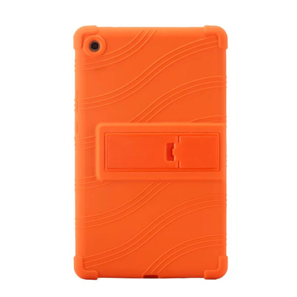 50pcs Soft Silicon Rubber TPU Back Cover for Huawei Mediapad M5 8.4 SHT-AL09 SHT-W09 8.4 inch Tablet Protective Pouch Bag Case Stand