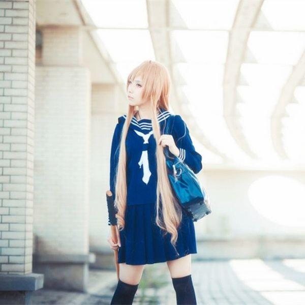 Anime TIGER DRAGON Toradora Aisaka Taiga salior Cosplay Costume sexy halloween costumes for women School Suit Uniform