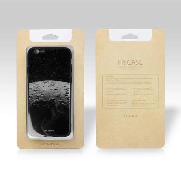 Hot 700gsm Empty Kraft Brown Paper Black Cell Phone Case Box Retail Package Packaging For iPhone X 8 7 8Plus S8 S9