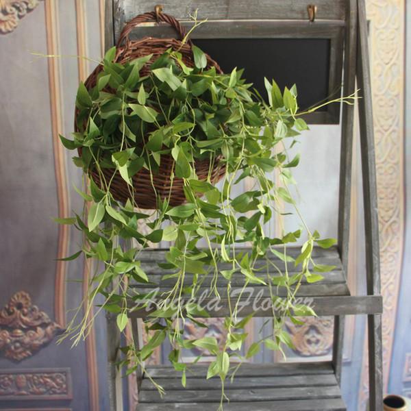 America style artificial plant DIY wedding decor plastic flower accessory honeysuckle vine leaf plant for flower decor 5 pcs
