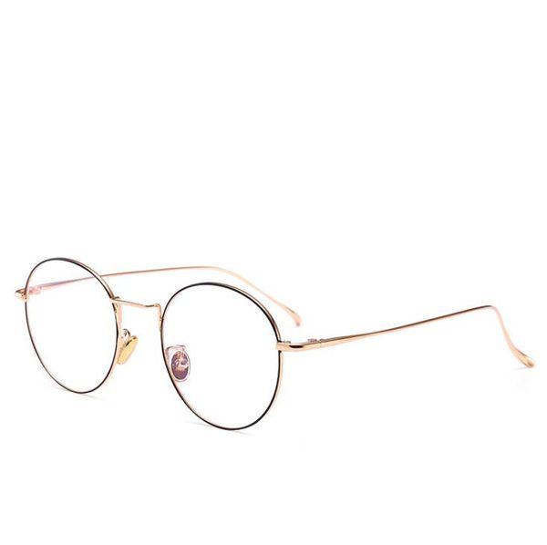 1129526ac5 Women Men Eyeglasses Retro Round metal computer glasses Frame Clear Lens  Glasses transparent prescription myopia Spectacles
