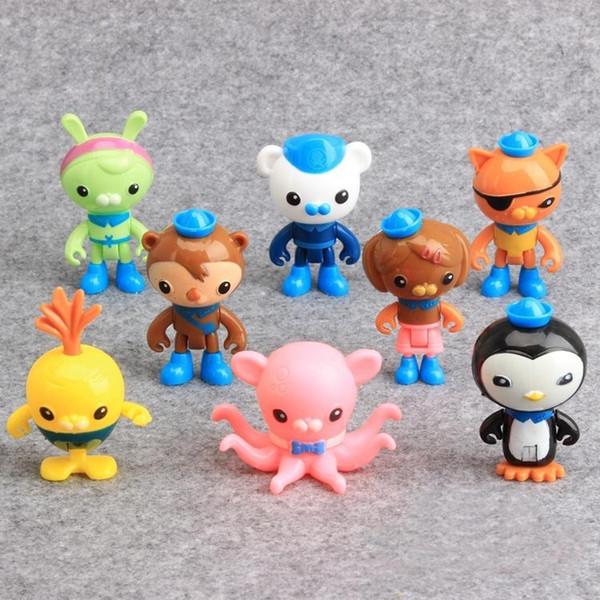 Agradável 8 Pcs Octonauts Capitão Cracas Kwazii Peso Shellington Dashi Action Figure Toy Família das Crianças t619