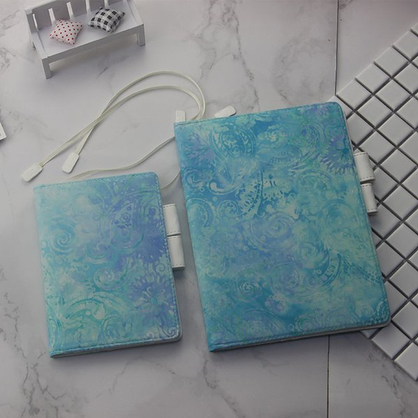 Romance Blue Floral Design Cloth Softcover Diary Hobonichi Fashion Journal Cover A5 A6 Free Shipping