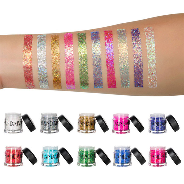 Manooby Tattoo Holographic Face Hair Sequins Eyeshadow Mermaid  Loose Pigment  Chunky Glitter For Art Festival