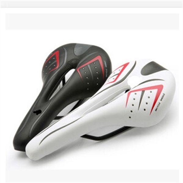 Mountain Racing Soft Seats Cushions Pu Breathable Bicycle Seat Saddle Black White Creative Removable Anti Wear Bike Saddles 14lw jj