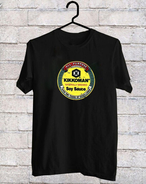 Kikkoman Soy Sauce Black T-shirt Novità 2018 Fashion Stranger Things T Shirt Uomo New Arrival Short uomo Punk Tops