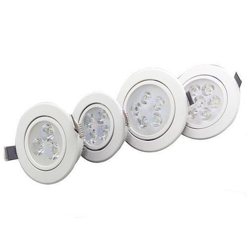CREE 21W 15W 12W 9W Led Recessed Downlights Silver/White Dimmable Led Down Lights AC 110-240V + Power Supply