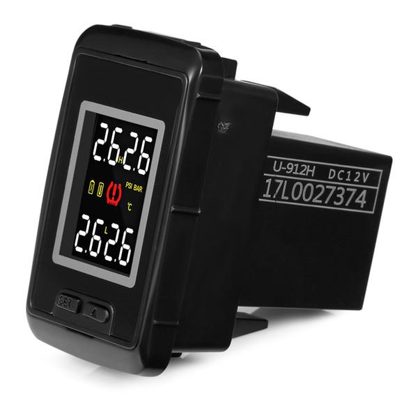 Pershn TPMS Sensor Car Tire Pressure Monitoring System With 4 Internal or External Sensors Temperature Digital Display For Honda