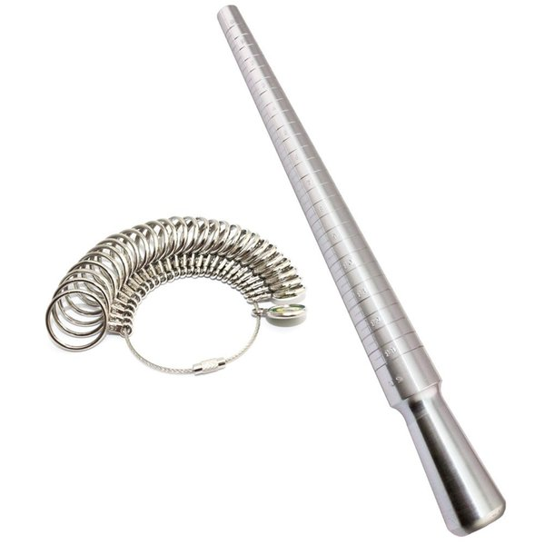 Jewelry Tool US Size Metal Ring mandrel Ring Size(1-13) Finger size Measure Tools