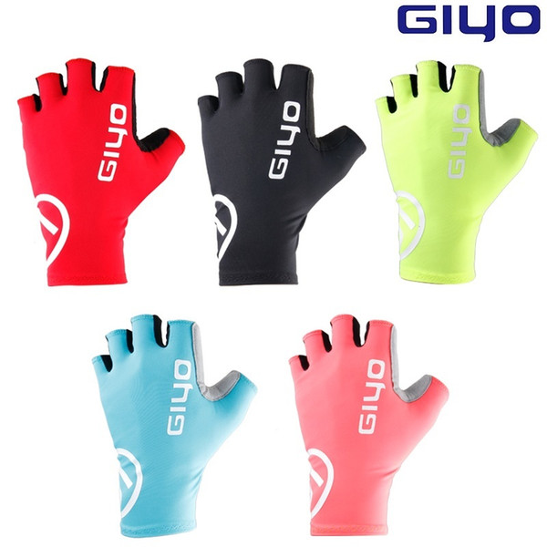 Giyo Breaking Wind Cycling Half Finger Gloves Anti-slip Bicycle Mittens Racing Road Bike Glove MTB Biciclet Guantes Ciclismo C18110801