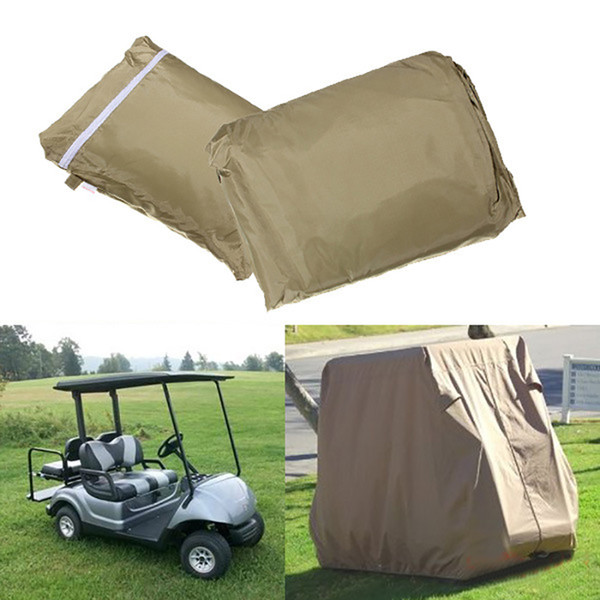 best selling Waterproof 4 Passengers Car Detector Golf Cart Protect Cover UV Resistant For Two Passenger Car Club Car Khaki 108x48x66