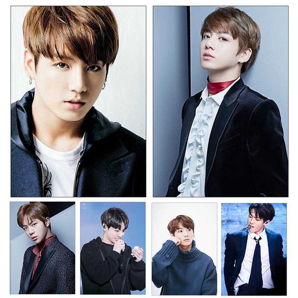 Fashion Kpop Bangtan Boys BTS poster home decoration coated paper clear image printing wall sticker