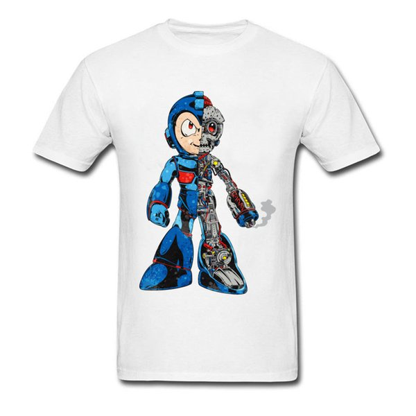 Mega Dissection Cool 2018 Men Black T Shirt Vintage Rusty Robot Cartoon Print O Neck Cotton Top T Shirt Wholesale