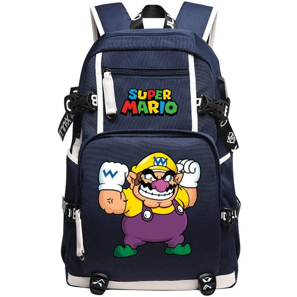 Worker backpack Super Mario school bag Strong man daypack Game schoolbag Outdoor rucksack Sport day pack