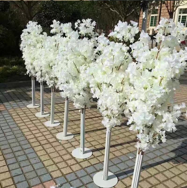New Arrival Cherry Blossoms Tree Road Leads Wedding Runner Aisle Column Shopping Malls Opened Door Decoration Stands