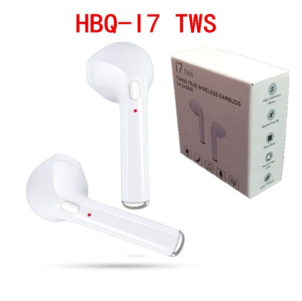 best selling 2018 HBQ I7 I7S TWS Twins Wireless Bluetooth Headphones Earbuds Earphones Mini Bluetooth Earbud with MicforiPhone X IOS Android with Retail