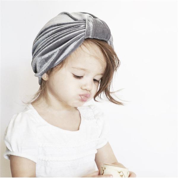 Compre Sombrero De Terciopelo Lindo Bebé Para Niñas Niños Otoño ...