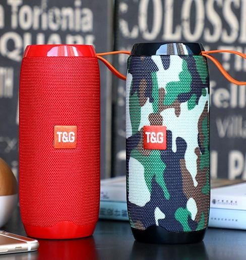 TG106 Mini Portable Bluetooth Speaker Music Players 5W*2 1200MAH TF Card Bicycle Double Horn Outdoor Waterproof Subwoofers Wireless 20PCS/L