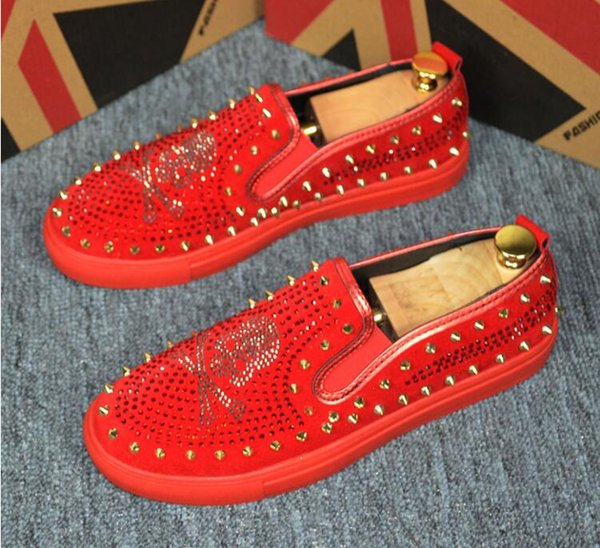Small bee loafers trendy men's shoes one pedal board shoes beanshoe sequins loafers hair stylist mens designer loafers mens moccasins G161