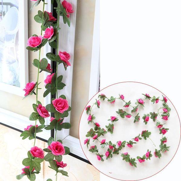 Mini Rose Simulazione Fiori Tubo Decor Pratico Moda Fiore artificiale Finto Viti floreali Plastica Buono Vendita 4 78nx ii