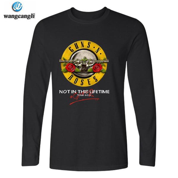 Модные футболки с длинным рукавом Rock Band Guns N Roses Футболки Swag Homme Hip Hop Бренд-одежда фитнес-футболка для мужчин