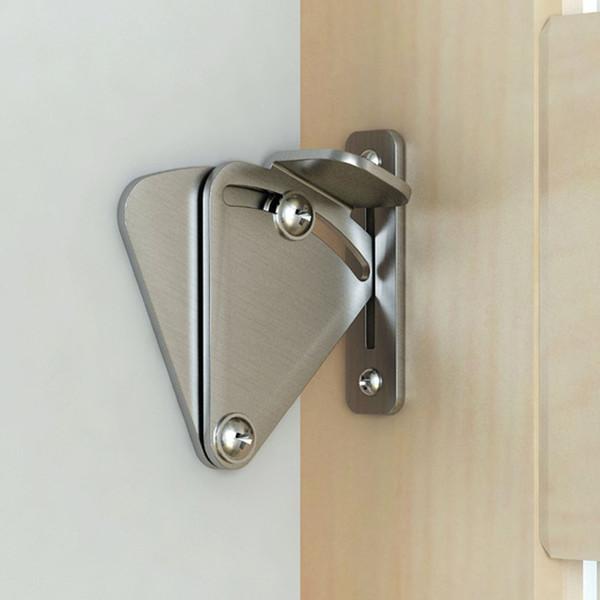 best selling Barn Door Lock Stainless Steel Brushed Barn Door Latch Sliding Barn Door Lock For Wood Latch