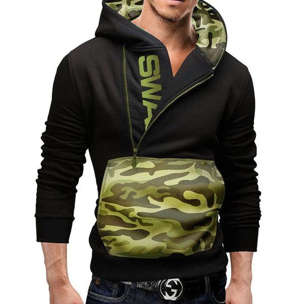 Dropshipping winter Men Pullover Hip Hop Letter Print anime clothing Hoodie Sweatshirt SWAG black male warm Jacket Coat
