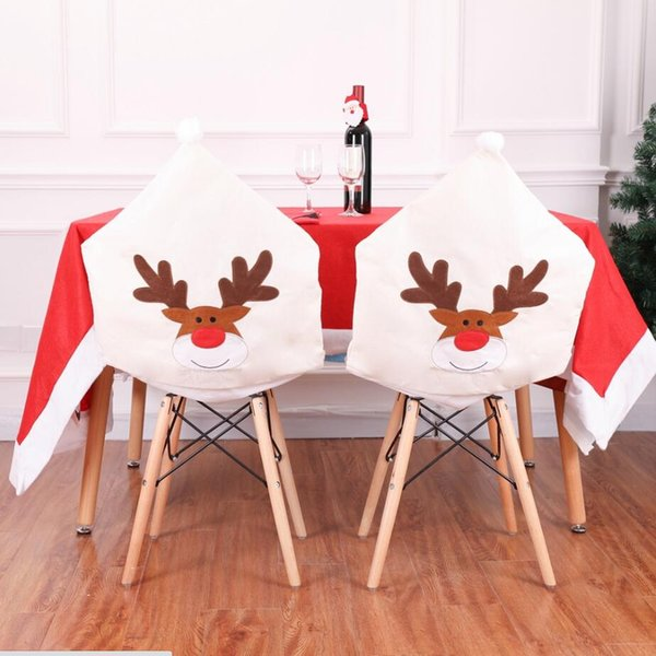 Enjoyable 2019 Winter Light Ivory Non Woven Christmas Wapiti Chair Covers Christmas Table Decorations Christmas Elk Embroidery Chair Sets From Bridalmall Bralicious Painted Fabric Chair Ideas Braliciousco