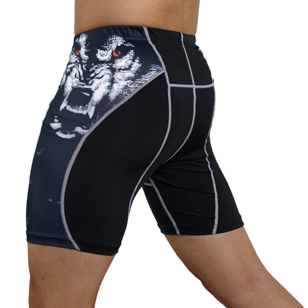 Mens Gym Wear Fitness Training Shorts Men Dry Fit Running Compression Tight Sport Short Pants Crossfit Workout Shorts