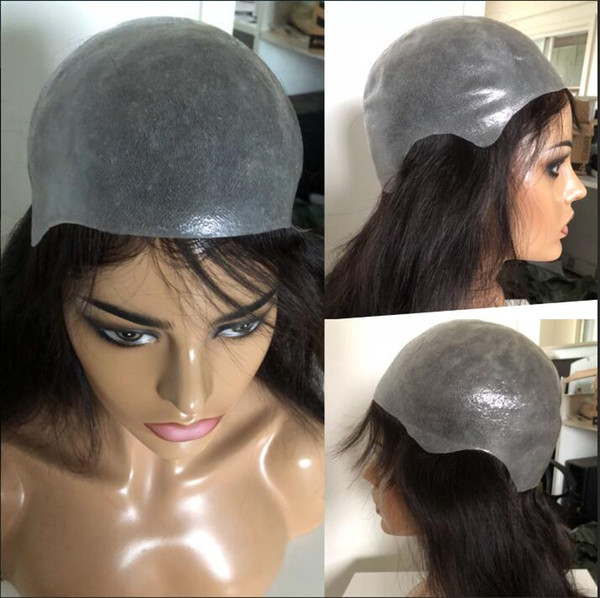 Full Thin Skin Wig 9A Grade Top Hair Quality Silky Straight Virgin Malaysian Human Hair Wigs Silicone Wig PU Wig Free Shipping