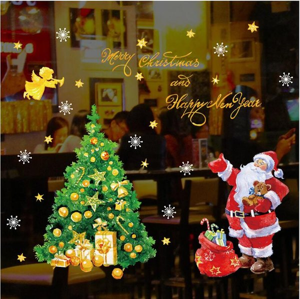 Christmas Wall Decals Removable.Santa Claus Christmas Wall Stickers Wall Decal Removable Art Window Wall Decor Top Toys For Christmas Christmas Toys For Kids From Helloben10 3 02