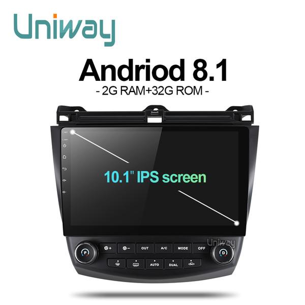 Uniway AYG1071 2G + 32G android 8.1 car dvd para Honda Accord 7 2003 2004 2005 2006 2007 reproductor de radio para coche gps navigation car
