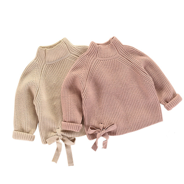 kids winter clothes age for 2-8 years girl clothes thick warm baby pullover 2018 new autumn cute bow sweater back to school tops