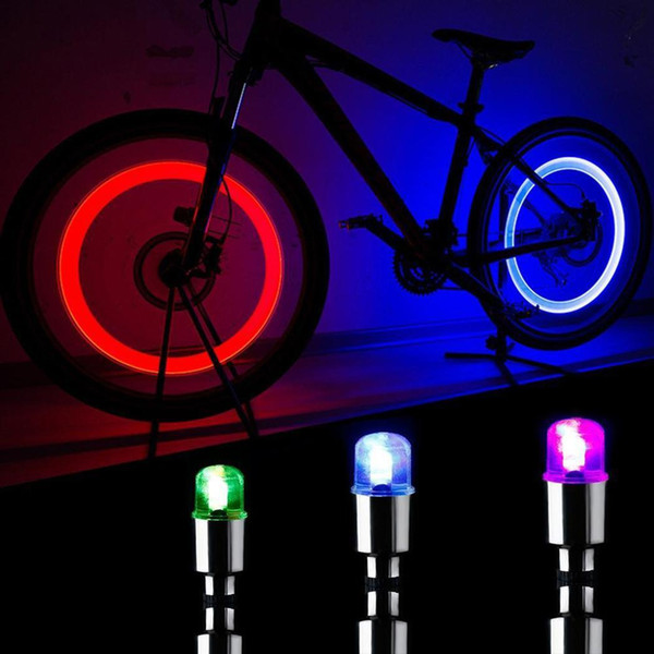 2PCS NEW Firefly Spoke LED Wheel Valve Stem Cap Tire Motion Neon Light Lamp For Bike Bicycle Car Motorcycle Bicycle Accessories