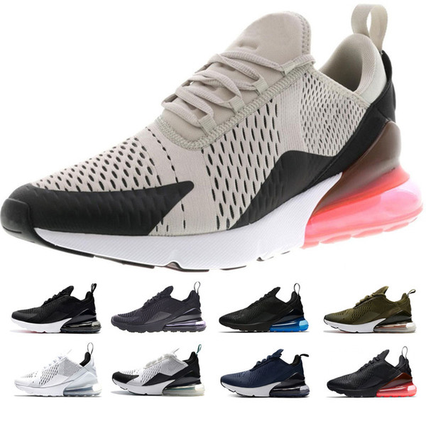 New 270 Men Running Shoes tiger cactus triple Black white pink running shoes sneaker sports Trainers shoes size 36-45